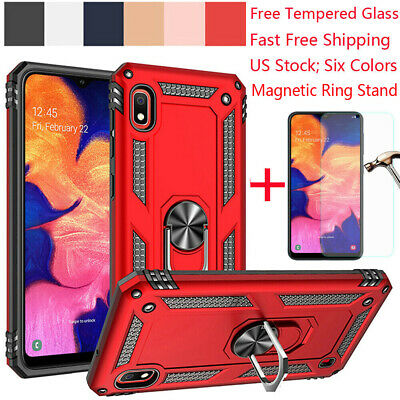For Samsung Galaxy A10/A20/A30/A50/M20 Magnetic Hybrid Ring Holder Stand Case