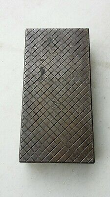 VINTAGE Cast Steel Machinist lapping plate Block Great shape