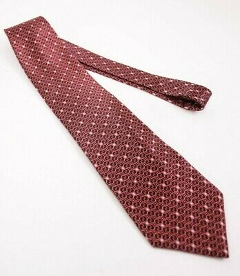 8551f7b4dc62 Zilli Silk Neck Tie In Black With Bold Red & Gray Geometric Print Very  Recent