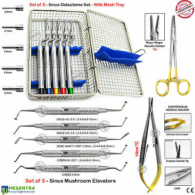 Dental Sinus Osteotomes Periosteal Elevators Implant Bone-Expansion Instruments