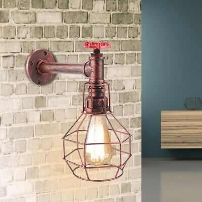 E26/E27 Retro Style Sconce Light Antique Pipe Wall Lamp Fixture for Cafe Bar