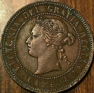 1881H CANADA LARGE CENT LARGE 1 CENT PENNY - Excellent example!