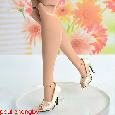 """Sybarite Superdoll Peep-toe shoes Superfrock 16/"""" OOAK Resin doll white bow-knot"""