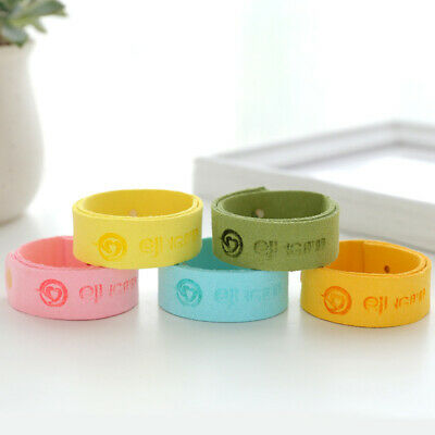 5 Colors Natural Anti Mosquito Insect & Bug Repellent Bracelet Bands