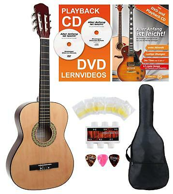 Classical Guitar Beginner Pack 3/4 Size Bag Pitch Pipe Tuner Spare Strings Picks
