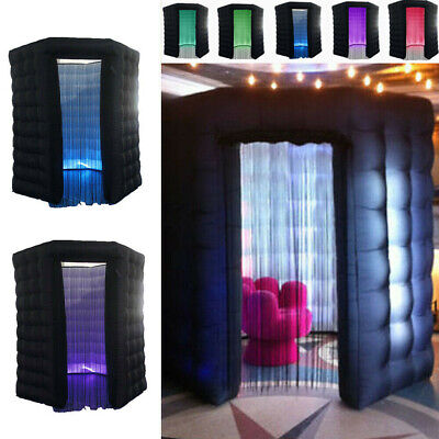 110V 2.5M One Door Inflatable LED Light Photo Booth Tent Party Birthday Wedding