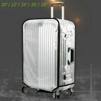 20-28'' Travel Luggage Cover Waterproof Dustproof Clear Suitcase Case Protector