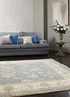 Quality Easy Living Large Traditional Rugs Beige Blue Wool Living Room Area Rug