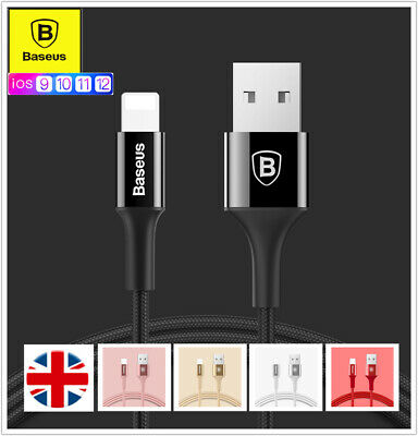 Baseus New Lightning Sync Charging USB Data Cable For Apple iPhone 7 8 XR XS Max