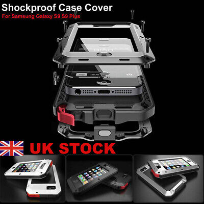 UK Shockproof Heavy Duty Armor Metal Aluminum Cover Case For Samsung S8 S9 Plus