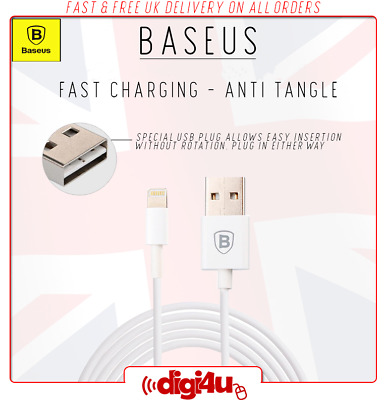 Baseus Lightning Fast Charging Data Cable for iPhone 5 6 7 8 X XR XS Max 1M / 2M