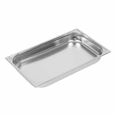 Vogue Heavy Duty Stainless Steel 1/1 Gastronorm Pan 65mm [DW433]