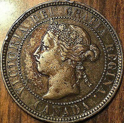 1896 CANADA LARGE CENT LARGE 1 CENT PENNY - Excellent example!