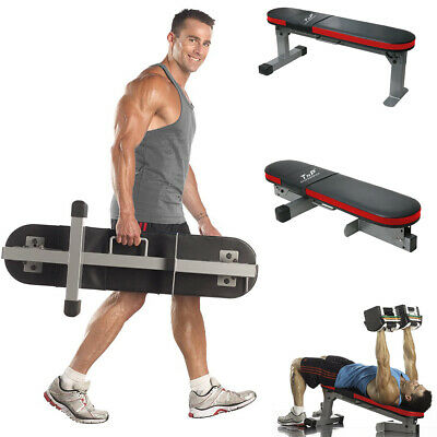 TnP Adjustable Folding Sit Up Travel Bench Flat Weight Power Block Lifting Chest