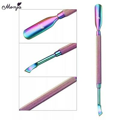 CUTICLE PUSHER Stainless Steel Tool Dual Manicure Gel Polish Clean