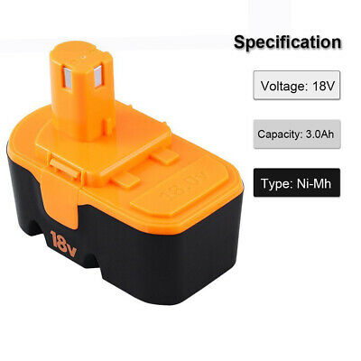 18v 3.0Ah Replace for Ryobi Battery ONE+ P100 P101 1322401 1400672 13022 ABP1801