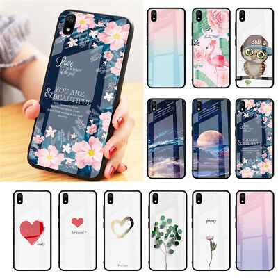 For Xiaomi Redmi K20 7A Note 7 Pro Case Tempered Glass Heart Space Pattern Cover