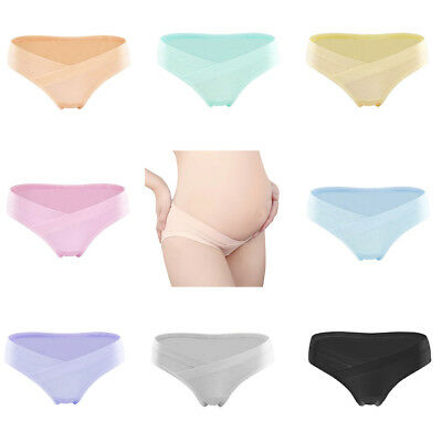 CO_ Pregnant Women Maternity Cotton U Shape Low Rise Underwear Panties Briefs No