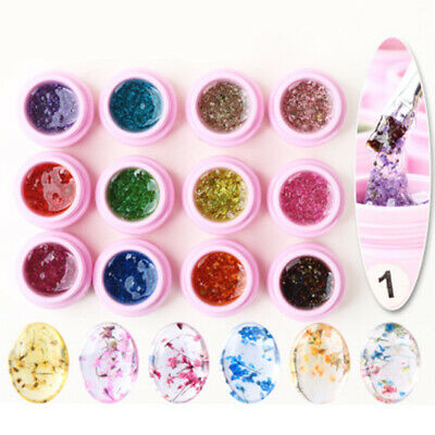Fashion Dry Flower UV Gel Polish Fairy Soak Off Nail Art Gel Varnish Manicure