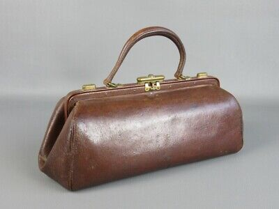 Antique Leather Bag Medical Carrycase First Xx Century
