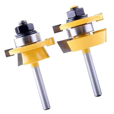 TONGUE AND GROOVE Router bit set 2pcs ½'' Shank SIZE Solid Carbide
