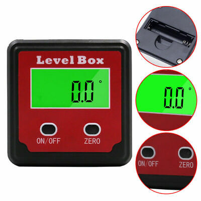 360 Degree Magnetic Digital Inclinometer Level Box Angle Meter Finder Protractor