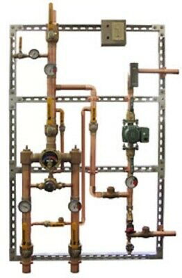 """Leonard 2N Megatron Thermostatic Mixing Valve System, 3/4"""" Inlets, 1"""" Outlet"""