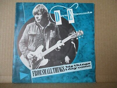 """Dave Edmunds – From Small Things Big Things Come    Vinyl 7"""" UK 1982  ARIST 478"""