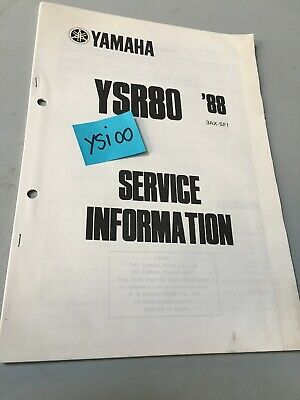 Yamaha YSR80 1988 YSR 80 service information technique data moto