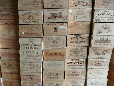 4 x Wine Box Crate. Wooden. 6 bottle size. French, Genuine.