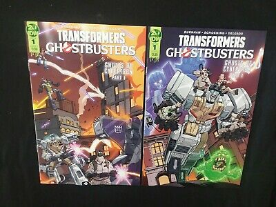 Idw Transformers Ghostbusters #1 Cover A & B 35Th Anniversary Cross Over