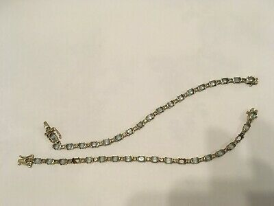 Two identical sterling silver 925 stamped tennis braclets for scrap or repair