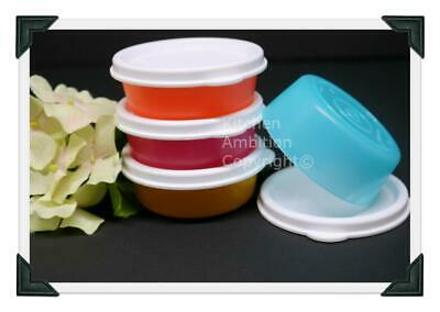 Brand New TUPPERWARE Set/4 Mini Bowls Perfect Portion ¼ Cup Containers Lunch #60