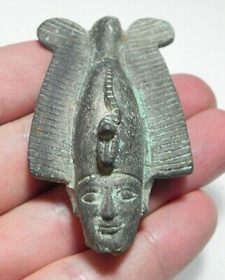 ZURQIEH -as13093- ANCIENT EGYPT. NICE BRONZE HEAD OF OSIRIS. 600 - 300 B.