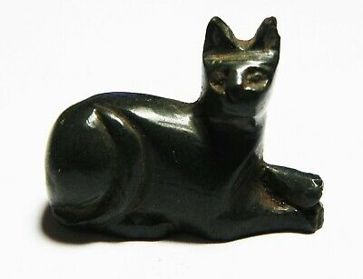 ZURQIEH -as13096- ANCIENT EGYPT, LARGE STONE FIGURE OF A CAT. 1400 B.C