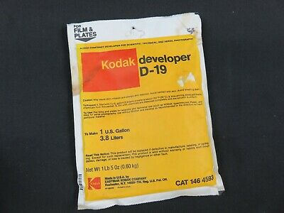 Vintage Kodak developer D-19 CAT 146 4593 To Make 1 Gallon