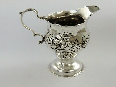 Excellent GEORGIAN SILVER CREAM JUG, London 1763 by WS antique sterling pitcher
