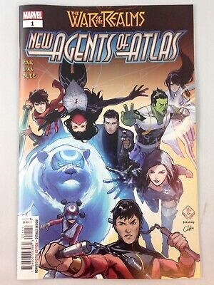 1A 2019 Tan FN Stock Image Marvel War of the Realms New Agents of Atlas
