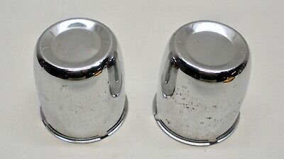 "PAIR - fits 2.95"" Center Bore Chrome Wheel Center Hub Cap 3"" tall SEE PICS"