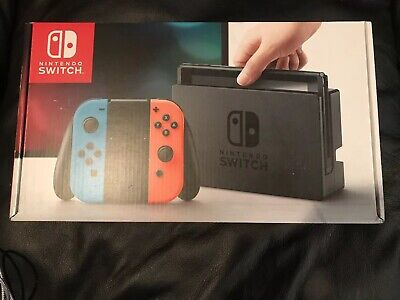 Nintendo Switch 32GB Console with Neon Blue and Neon Red Joy-Con BRAND NEW!