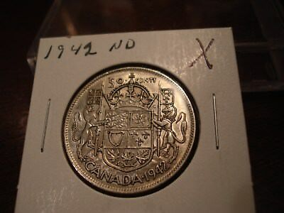 1942 - ND - Canada 50 cent  - Canadian half dollar -