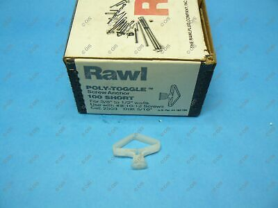"Rawl Powers 2303 Plastic Poly-Toggle Screw Anchor Short 3/8"" Wall Qty 48"