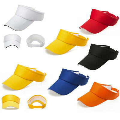 Men Women Summer Outdoor Sun Visor Caps Sport Golf Tennis Running Plain Sun Hats
