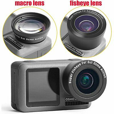 Additional Mirror Fisheye / Macro Lens Replacement for DJI OSMO Action Camera