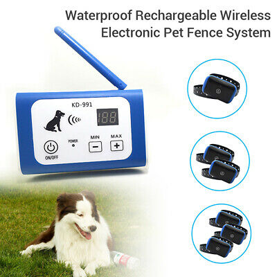 Waterproof Pet Dog Electronic Wireless Fence System Training Collar Lost Alarm