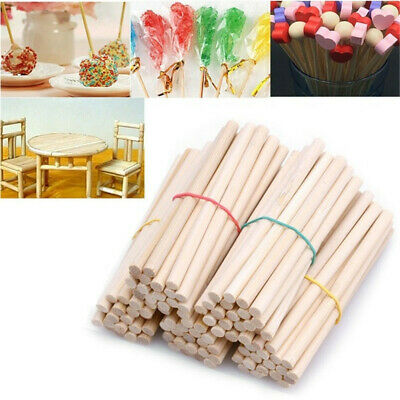 Round Wood Rods Counting Sticks Wooden DIY Crafts Building Homemade Natural AU