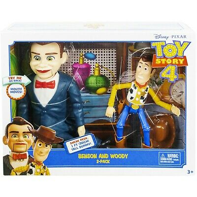New Disney Toy Story 4 Benson & Woody Figure 2 Pack Exclusive Movie Edition