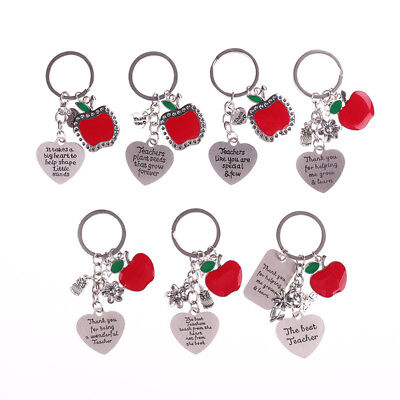 Thank you Gift for Teacher, Teaching assistant Nursery teacher Apple Keyring HOT