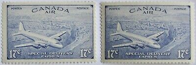 CANADA #CE3-4: F/VF MH 17-Cent Duo of Air Mail Special Delivery stamps
