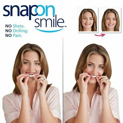 1pcs Unisex Snap On Smile Comfort Fit Flex Finti Denti Top Veneer Protesi Pretty